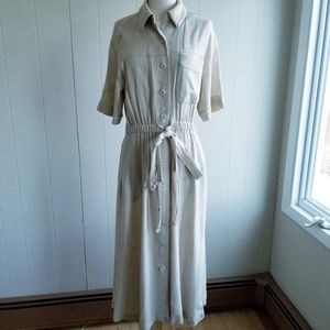 1980s Brownstone Studio, Made in USA, Tan Dress